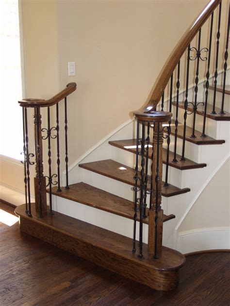 Cheap Banisters ribbon twisted iron balusters traditional staircase houston by cheap stair parts