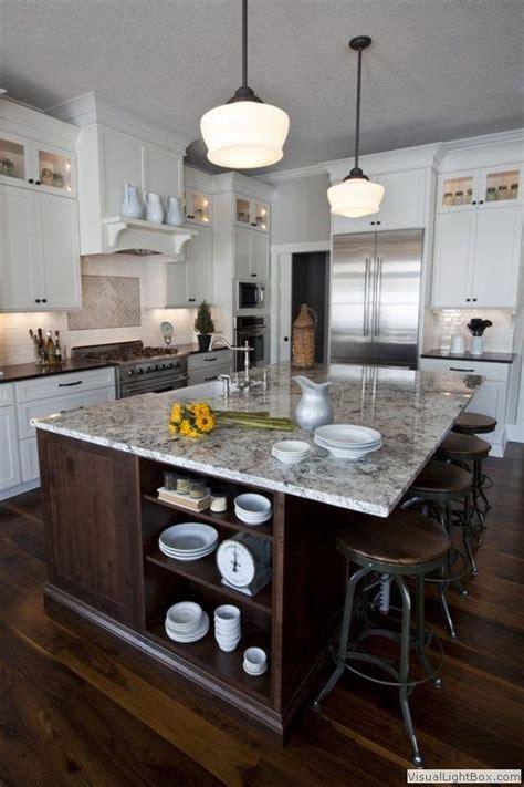 traditional kitchen  ms international bianco antico granite   bronze schoolhouse