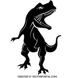 free silhouette images free dinosaur silhouette vector image free