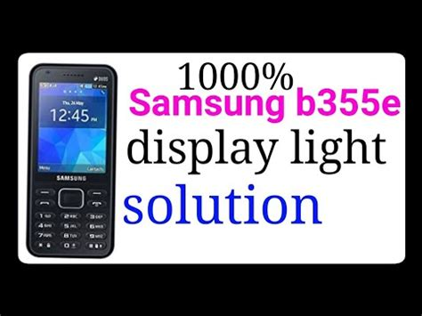 Samsung B355e Samsung B355e 350e Lcd Lights 1000 Solution Samsung B355e 350e Display Light Solution
