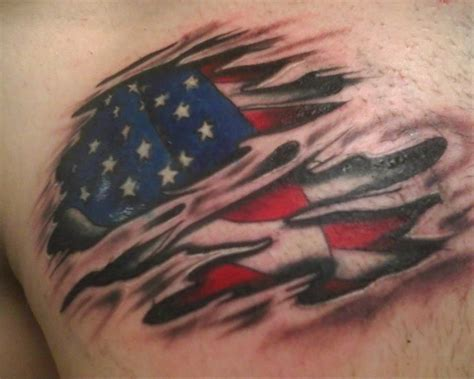 tattered american flag tattoo designs tis only a flesh wound by hatethatiloveyou419 on