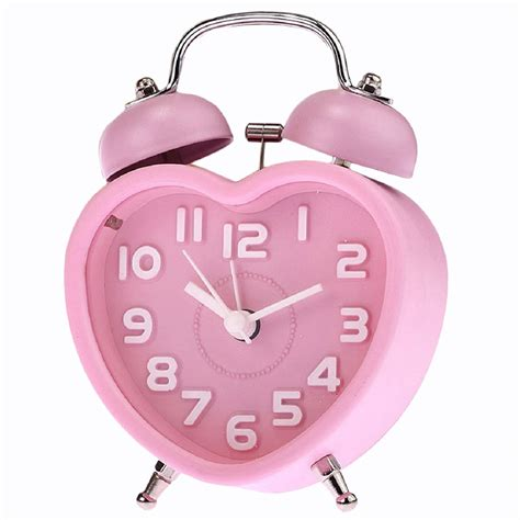 d6 small bell light children mini quartz alarm clock pink ebay