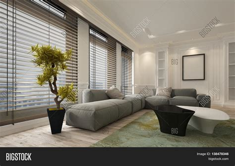 Large Living Room Window Blinds Fancy Apartment Living Room Interior With Large Floor To