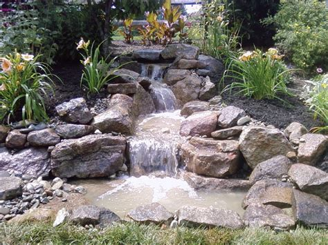 How To Build A Small Backyard Waterfall by Pondless Waterfall Build Ephrata Pa C E Pontz Sons