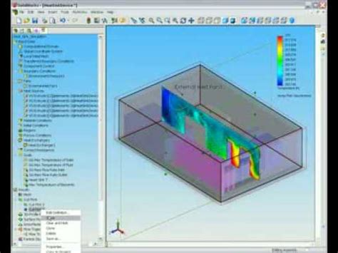 solidworks tutorial heat transfer cosmos heat flow analysis of a room in solidworks youtube