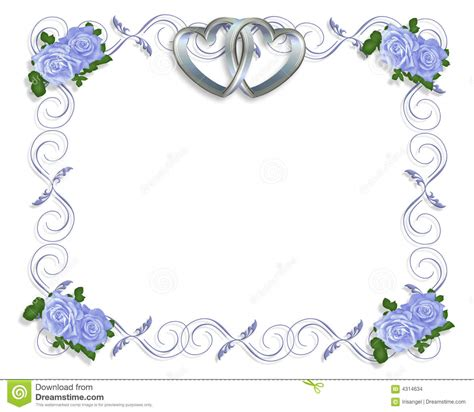 wedding invitations borders free wedding invitation border blue roses stock illustration illustration of engagement card 4314634