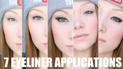 eyeliner tutorial with marker seven different eyeliner application tutorial youtube