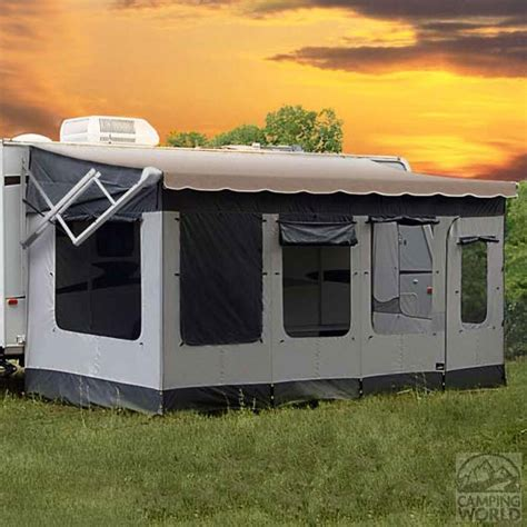travel trailer awning screen room carefree 291800 vacation r screen room for 18 to 19