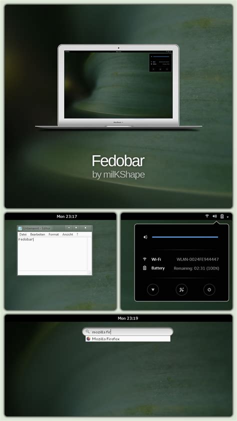 gnome themes for windows 7 fedobar gnome like rainmeter taskbar replacement by