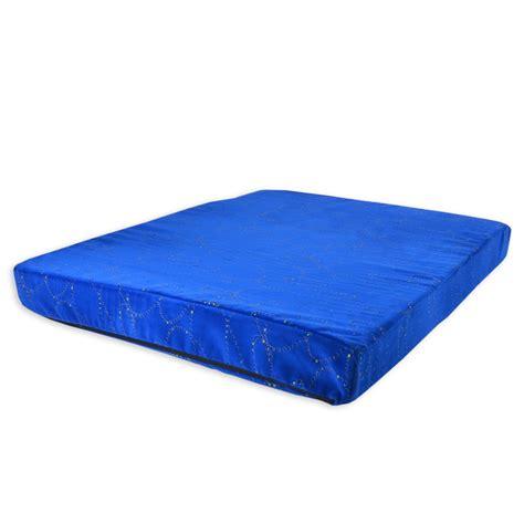 heavy duty blue orthopedic memory foam cube bed new