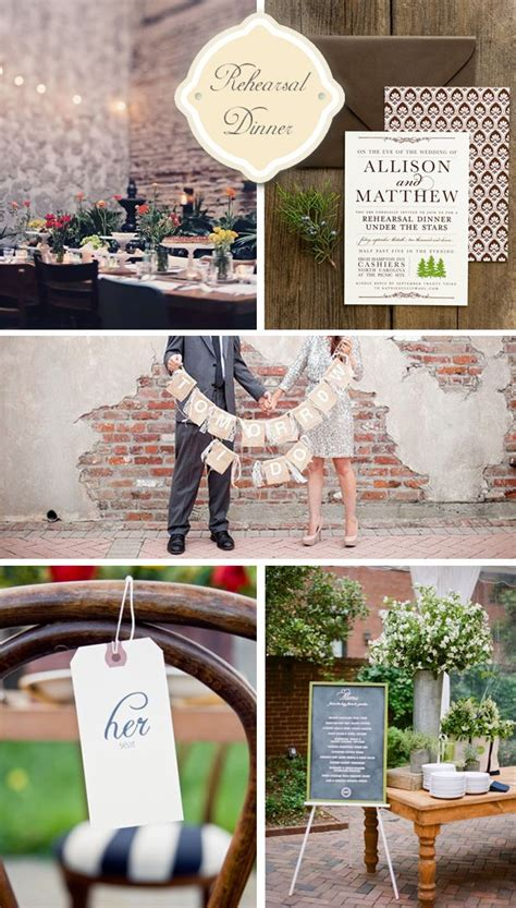 Engagement Dinner Decorations by Start The Early 5 Special Rehearsal Dinner Ideas