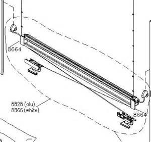 spare blind parts velux blind spare part kitset for rail dkl rfl