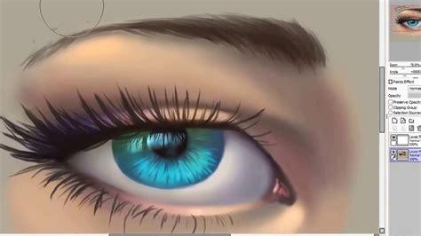 paint tool sai realistic eye tutorial how to draw an eye tutorial paint tool sai