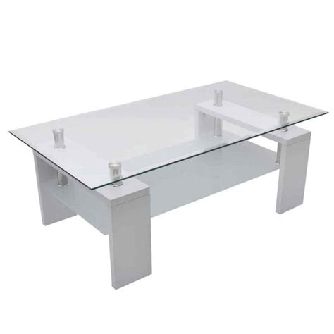 white gloss glass coffee table 2 tier mdf glass coffee table in high gloss white buy