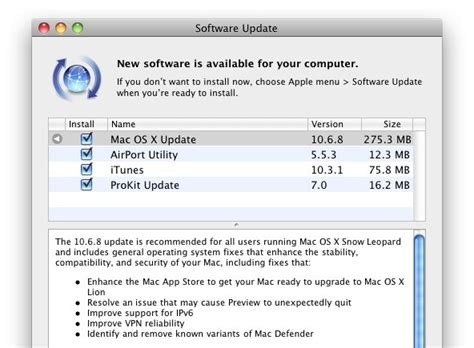mac os x 10 6 update 8 mac os x 10 6 8 released ready to download