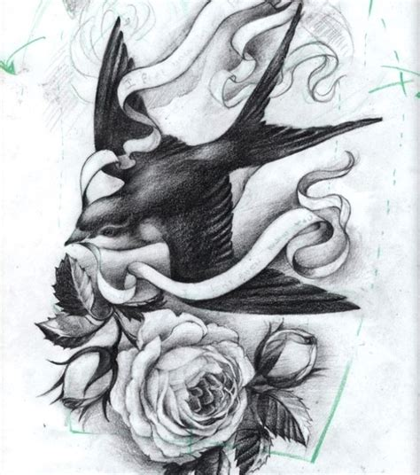 rose swallow tattoo 1000 images about on sparrow