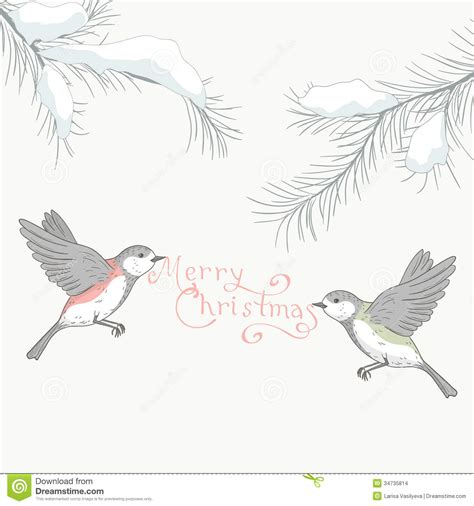 greeting card with birds 2 stock images image 34735814