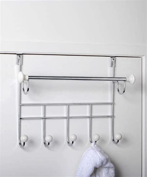 The Door Towel Rack With Hooks by Design Products Towel Bar Door Hook Rack Design