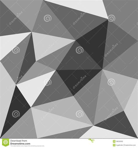 triangle pattern grey grey triangle vector background or pattern stock