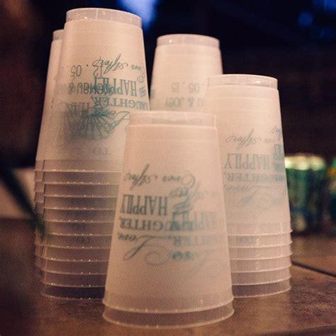 16 Oz. Custom Printed Plastic Graduation Stadium Cups (Set