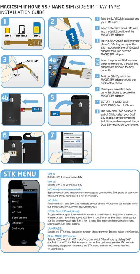 magicsim elite iphone 5s dual sim adapter for iphone 5s