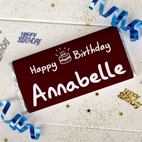Personalised Birthday Cakes by Personalised Chocolate Bar Birthday Cake