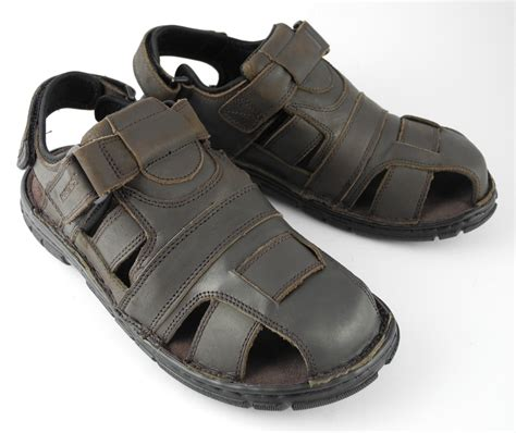 hiking sandals mens mens roamers velcro leather sports hiking trail closed toe