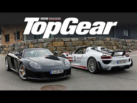 Porsche 918 Vs Carrera Gt by Porsche Carrera Gt Vs Porsche 918 Spyder Test Topgear