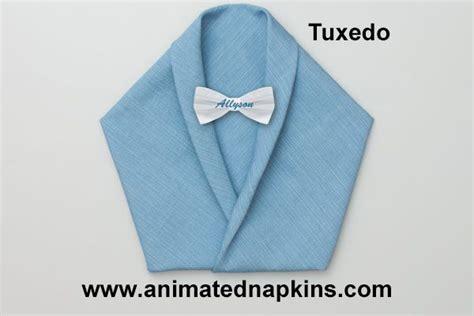 animation napkin tuxedo folding triangle start paper