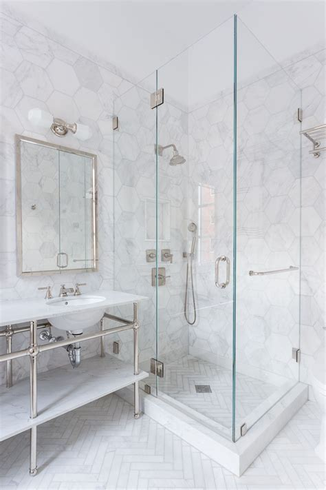 marble tile shower 34 stunning marble bathrooms with silver fixtures marble