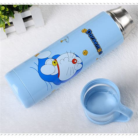 Botol Thermos Kartun Dengan Penyaring 500ml Botol Thermos Kartun Stainless Steel 500ml Blue Jakartanotebook