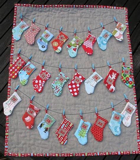 sewing pattern for mini christmas stocking stocking advent calendar by trillium design craftsy