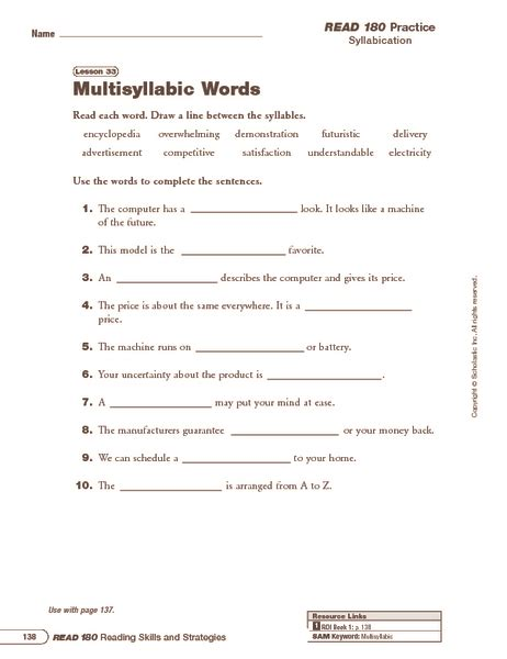 Multi Syllable Words Worksheets by New 425 Phonics Worksheets Multisyllabic Words Vowel
