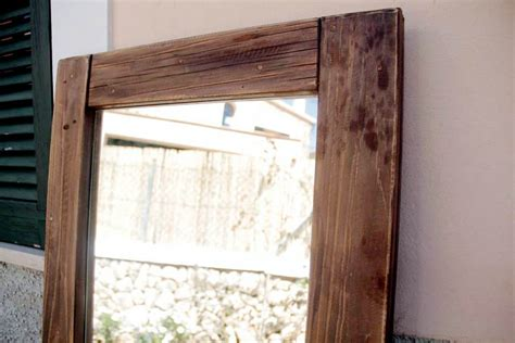Handcrafted Wooden Mirrors - antique wood pallet mirror 99 pallets