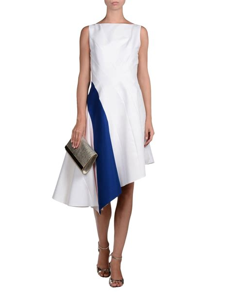 dior knee length dress in white lyst
