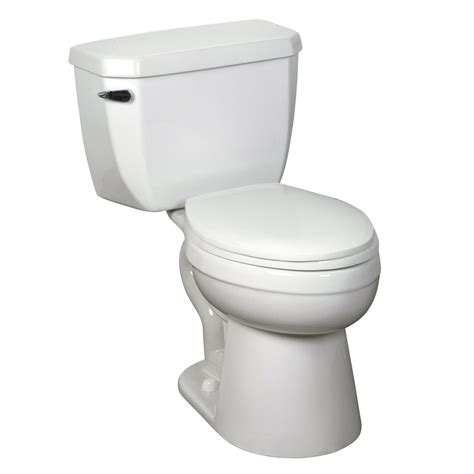 comfort height toilet lowes shop crane plumbing economiser white 1 28 gpf 4 85 lpf