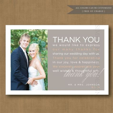 Wedding Gift Thank You Card Template by Wedding Gift Thank You Card Wording Thank You Wedding