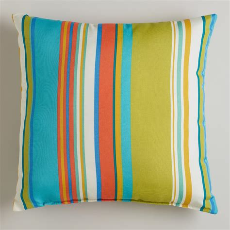 striped santorini outdoor throw pillow world market