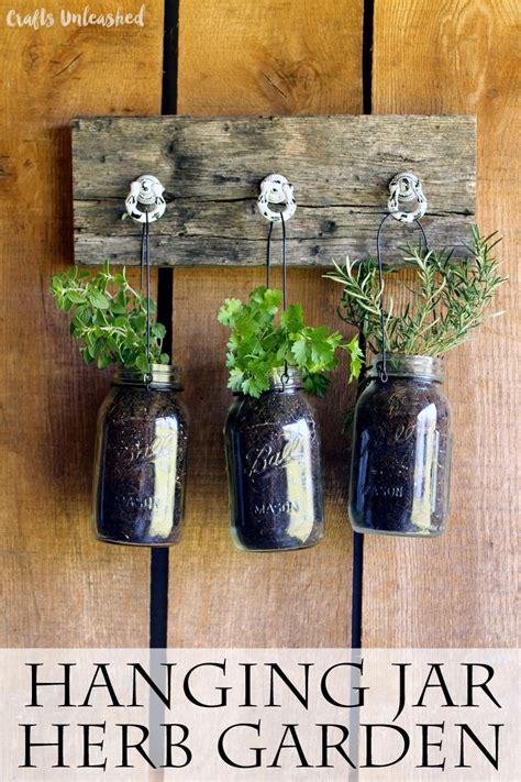 diy hanging garden  jarred herbs crafts unleashed