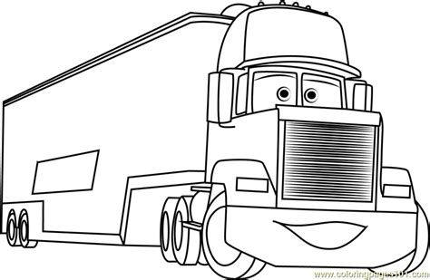coloring pages cars mack mack coloring page free cars coloring pages