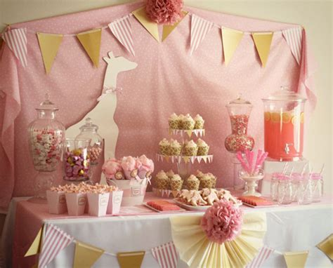 baby shower table baby girl shower ideas