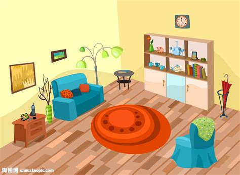 Wohnzimmer Clipart by 卡通房间漫画矢量图片 图片id 1244746 室内设计 空间环境 矢量素材 淘图网 Taopic