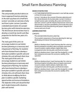free agriculture business plan template farm business plan template 9 free sle exle