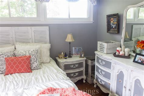 coral and grey bedroom hometalk gray and coral bedroom makeover diy and thrift from top to bottom