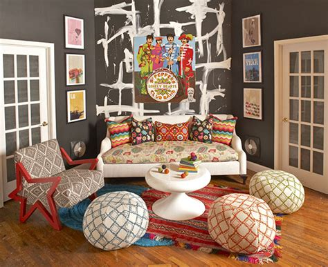 Tribal Pattern Room | tribal patterns take interiors by storm paint pattern