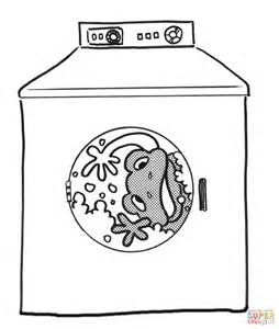 washing coloring sheets frog in the washing machine coloring page free printable