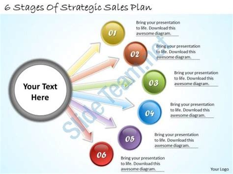 Sales Business Plan Template Ppt 1113 business ppt diagram 6 stages of strategic sales plan