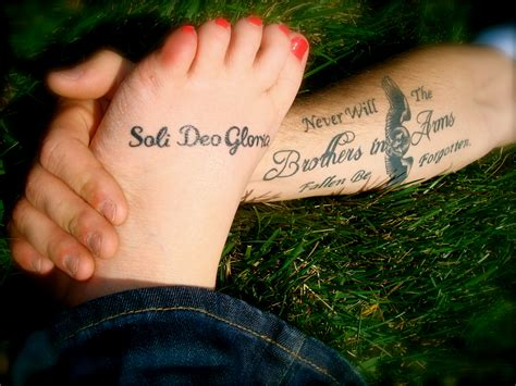soli deo gloria tattoo faith by the foot 7 days time