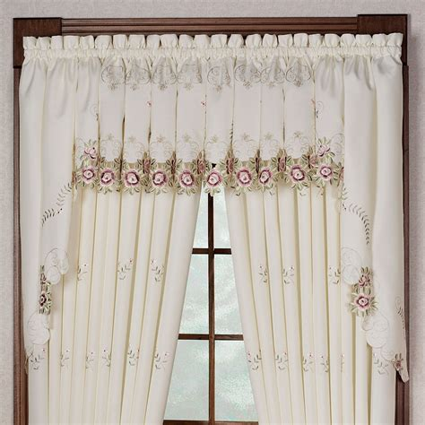 tailored curtains bella rose embroidered curtains and valance