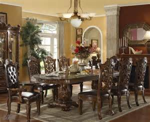 9pc Formal Dining Table Chairs Set In Brown Cherry Finish New 9pc Vendome Traditional Brown Cherry Finish